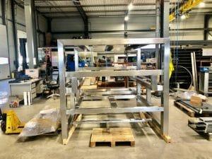 chassis métallique polissage 4j chaudronnerie