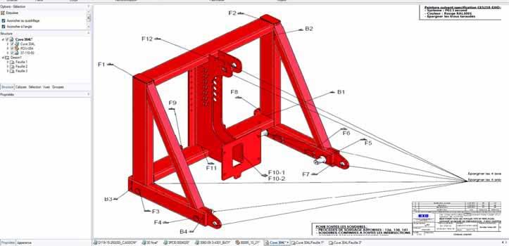 4J - Plan de conception d'un projet de chaudronnerie