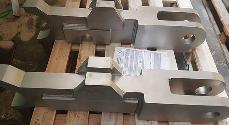 Structure métallique inox après microbillage